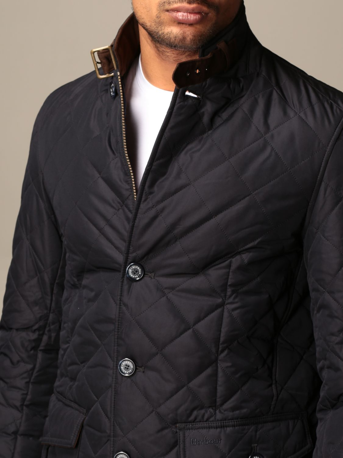 Jacket Barbour: Classic Barbour diamond quilted jacket blue 4