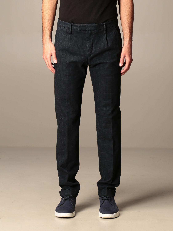 Pantalone Briglia: Pantalone classic Briglia check blue 1