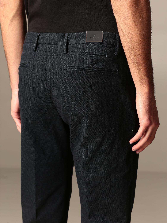 Pantalone Briglia: Pantalone classic Briglia check blue 3