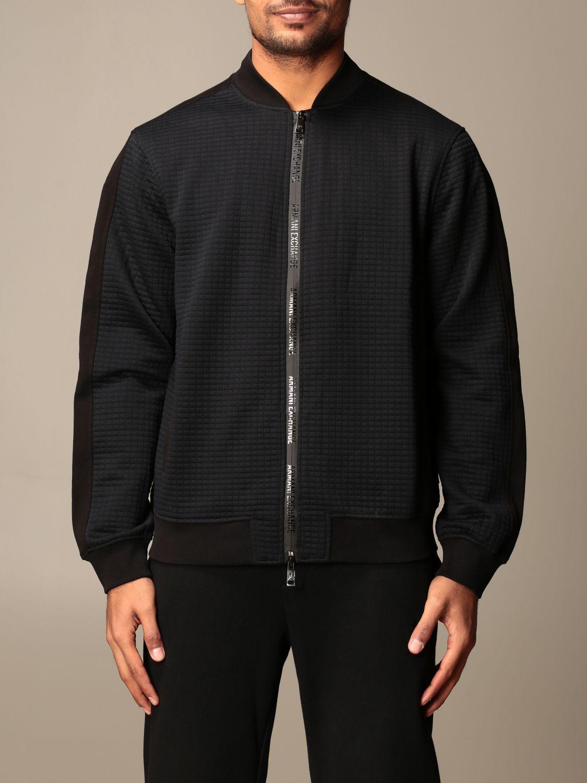 Sweatshirt Armani Exchange: Armani Exchange zip bomber jacket black 1