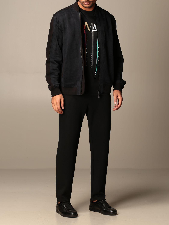 Sweatshirt Armani Exchange: Armani Exchange zip bomber jacket black 2