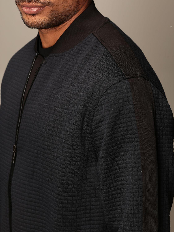 Sweatshirt Armani Exchange: Armani Exchange zip bomber jacket black 4