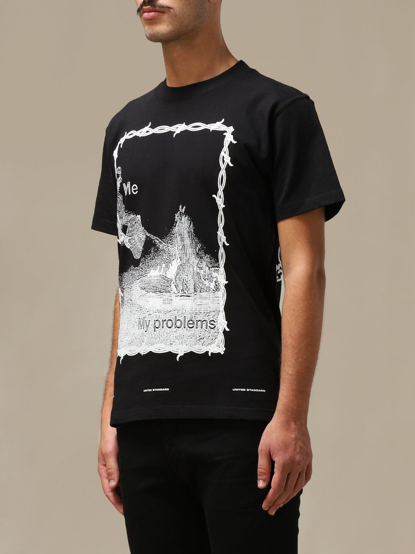 T恤 United Standard: T恤 男士 United Standard 黑色 3