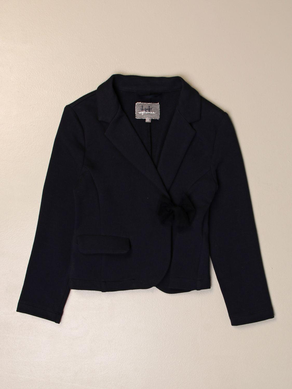 Blazer Il Gufo: Il Gufo blazer with bow blue 1