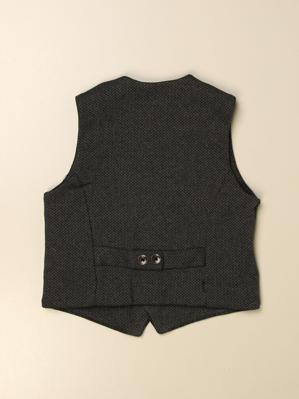 Waistcoat Paolo Pecora: Paolo Pecora single-breasted waistcoat in cotton blend charcoal 2