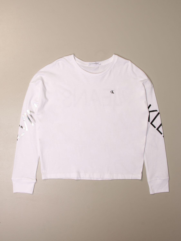 Camisetas Calvin Klein: Camisetas niños Calvin Klein blanco 1