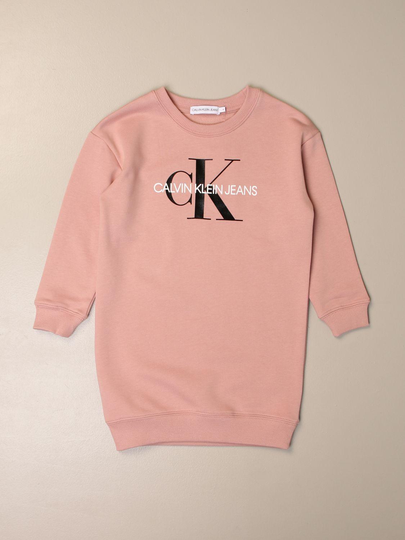 Vestido Calvin Klein: Vestido niños Calvin Klein rosa 1