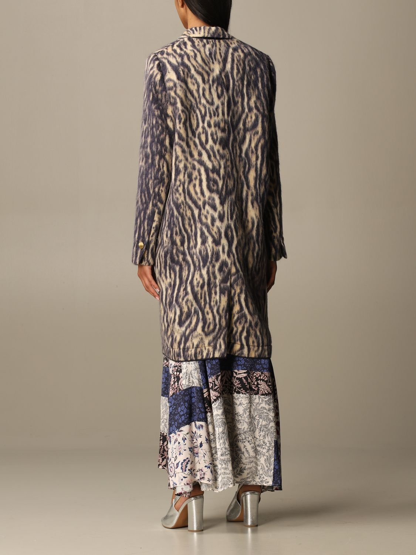 Coat Forte Forte: Forte Forte double-breasted coat in patterned virgin wool violet 3