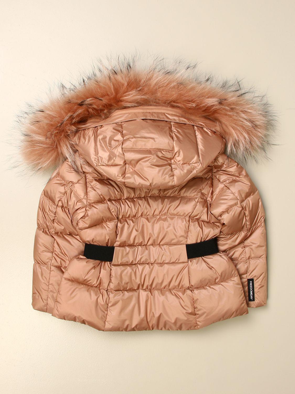 Jacket Freedomday: Freedomday down jacket with hood and fur edges peach 2