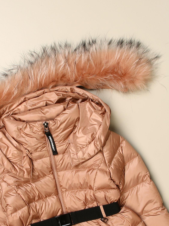 Jacket Freedomday: Freedomday down jacket with hood and fur edges peach 3