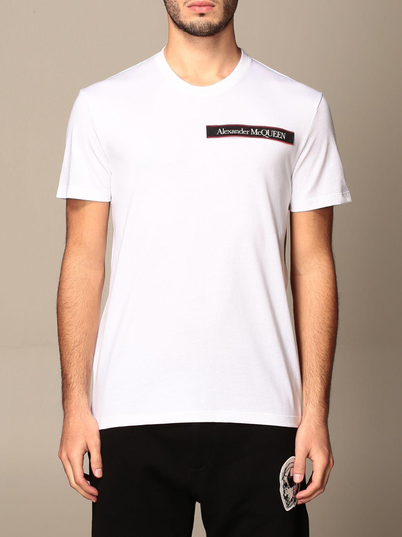 T-shirt Alexander Mcqueen: Alexander McQueen cotton t-shirt with logo white 1