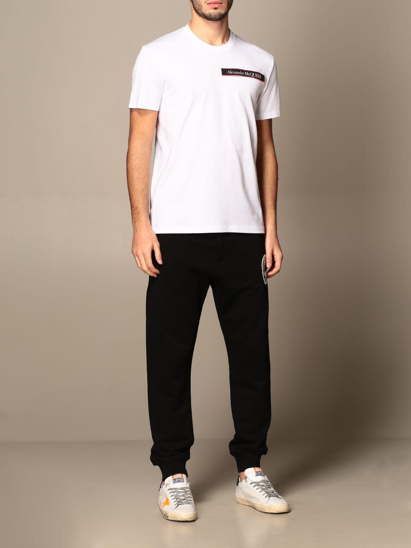 T-shirt Alexander Mcqueen: Alexander McQueen cotton t-shirt with logo white 2