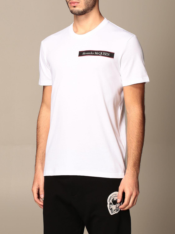 T-shirt Alexander Mcqueen: Alexander McQueen cotton t-shirt with logo white 4