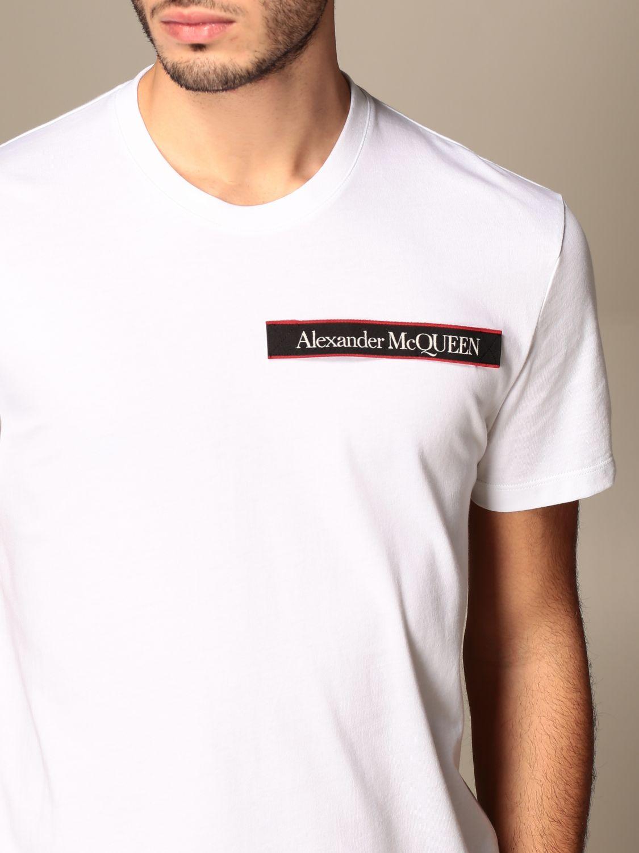 T-shirt Alexander Mcqueen: Alexander McQueen cotton t-shirt with logo white 5