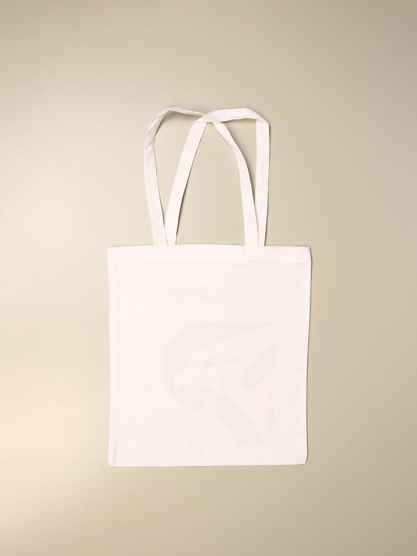 Borsa a tracolla Palermo: Shopper Palermo in cotone con stemma bianco 2