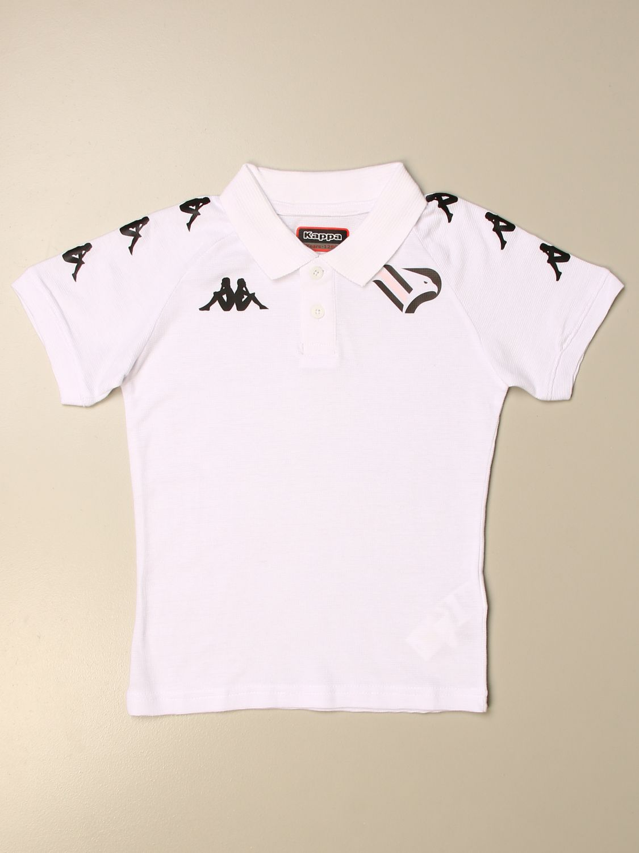 Polo Palermo: Polo Caldes da gara kappa bambino Palermo a maniche corte con logo bianco 1