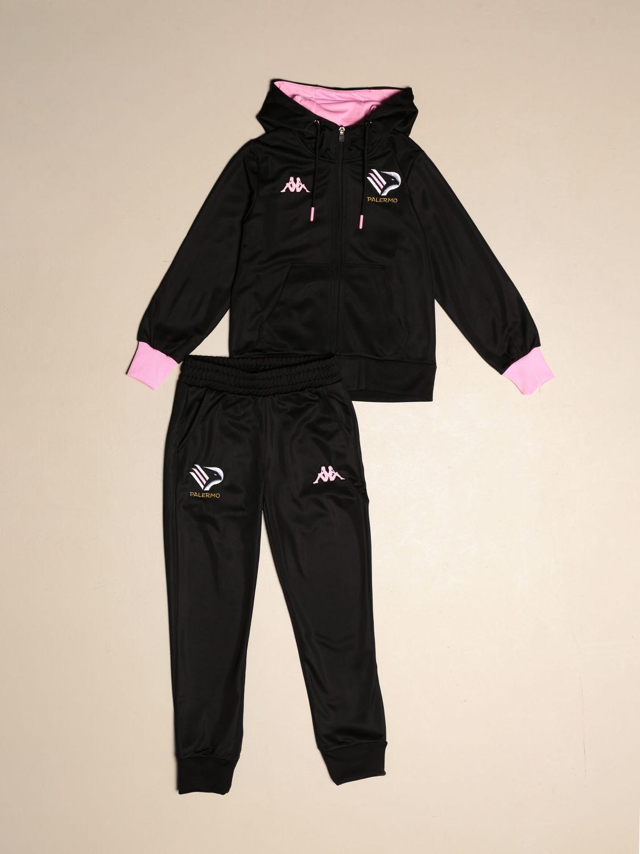 Tuta Palermo: Tuta aldatz da bambino kappa palermo con felpa + pantalone jogging nero 1