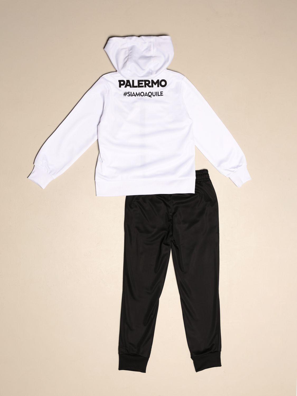 Tuta Palermo: Tuta aldats bimbo kappa palermo in tessuto tricot slim fit bianco 2
