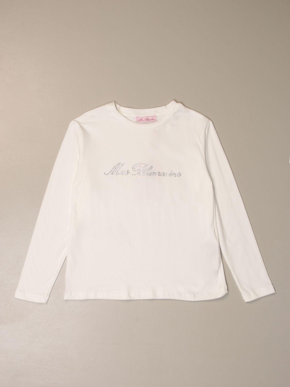 Camisetas Miss Blumarine: Camisetas niños Miss Blumarine blanco 1