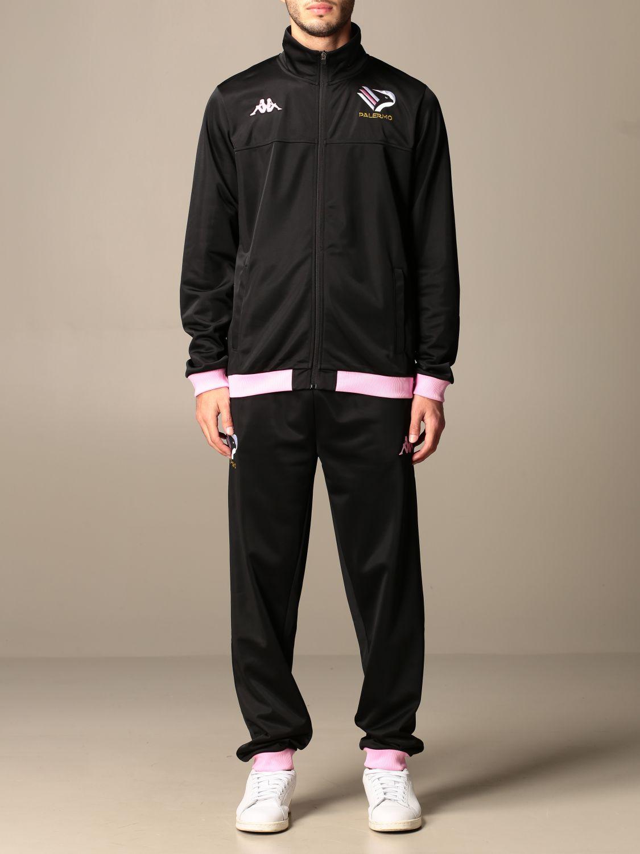 Tuta Palermo: Tuta alfons palermo in tessuto tricot nero 1