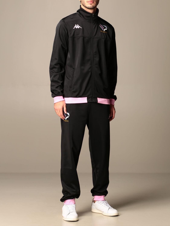 Tuta Palermo: Tuta alfons palermo in tessuto tricot nero 2