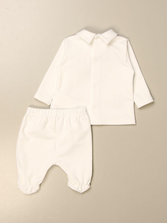 Completo Le Bebé: Completo maglia + pantalone Le Bebè con fiocco panna 2