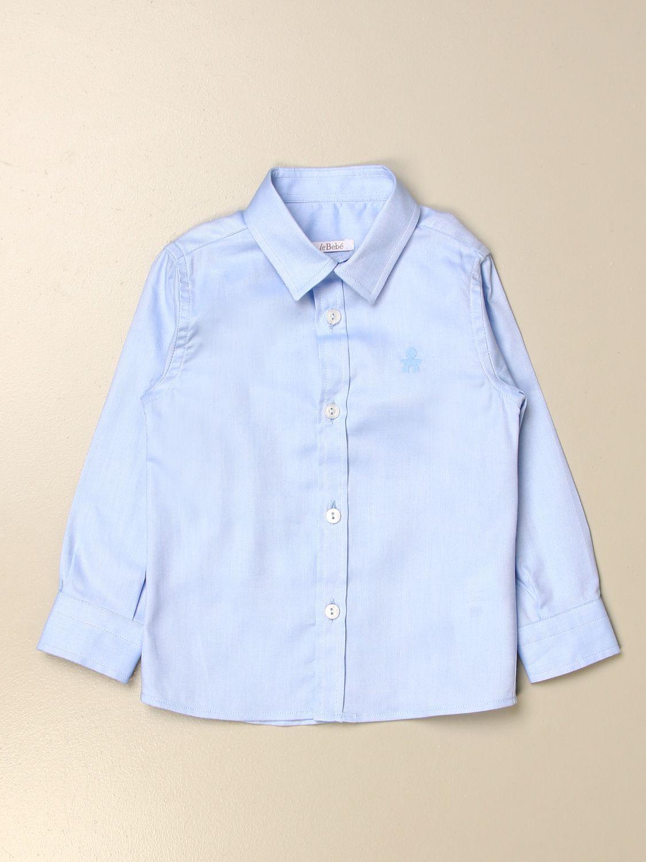 Shirt Le Bebé: Le Bebè classic shirt in cotton sky blue 1