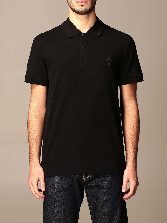 Polo shirt Alexander Mcqueen: T-shirt men Alexander Mcqueen black 1