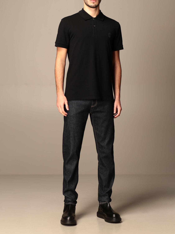 Polo shirt Alexander Mcqueen: T-shirt men Alexander Mcqueen black 2