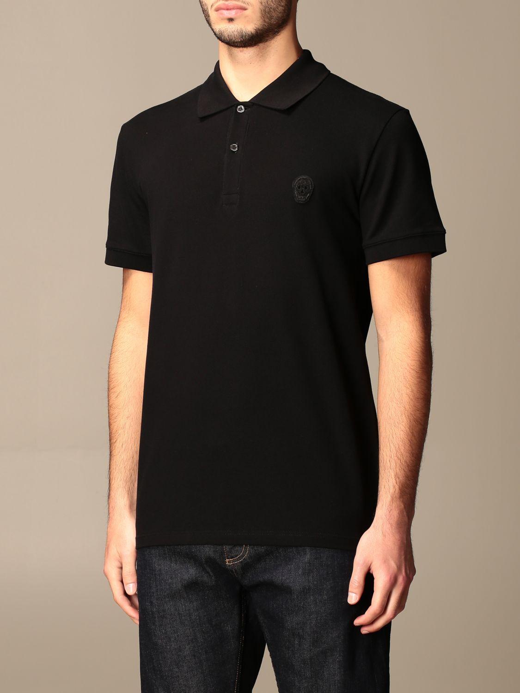 Polo shirt Alexander Mcqueen: T-shirt men Alexander Mcqueen black 4