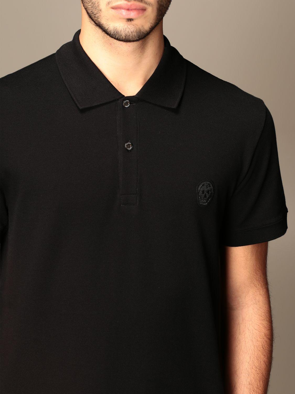 Polo shirt Alexander Mcqueen: T-shirt men Alexander Mcqueen black 5