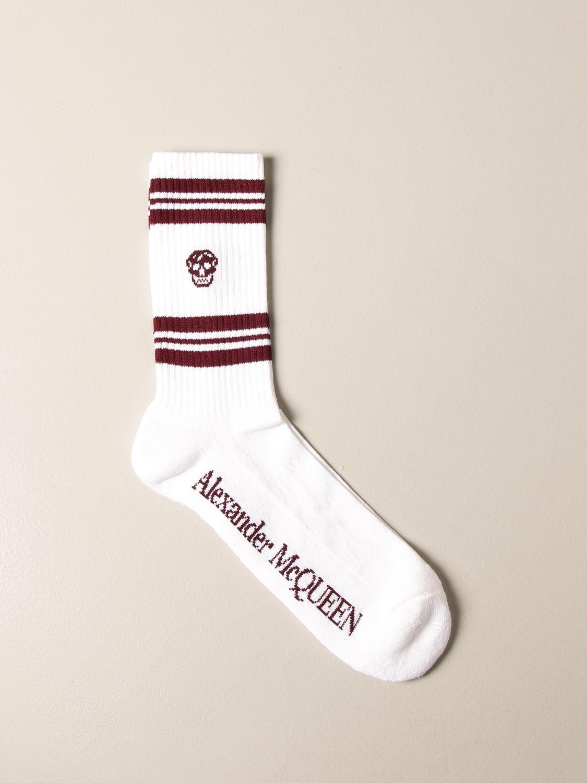Calze Alexander Mcqueen: Calze Alexander McQueen in cotone con logo bianco 1