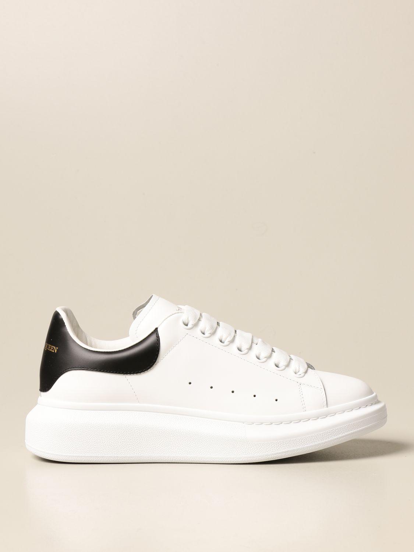 Sneakers Alexander Mcqueen: Sneakers Alexander McQueen in pelle con logo bianco 1