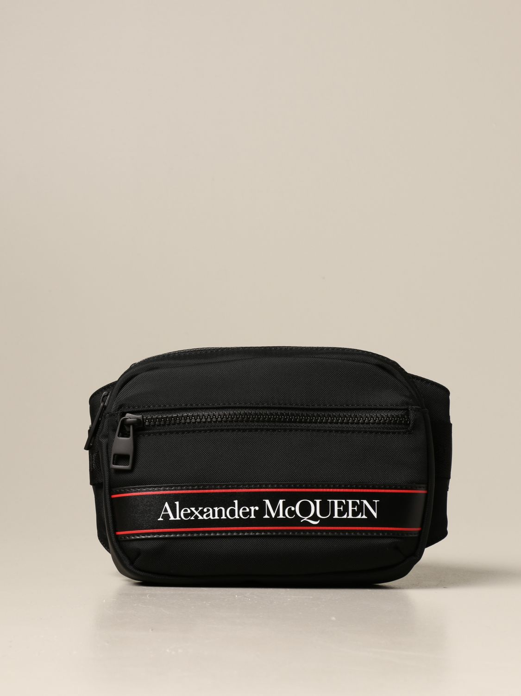 Marsupio Alexander Mcqueen: Marsupio Alexander McQueen in nylon con logo nero 1