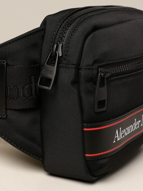 Marsupio Alexander Mcqueen: Marsupio Alexander McQueen in nylon con logo nero 4