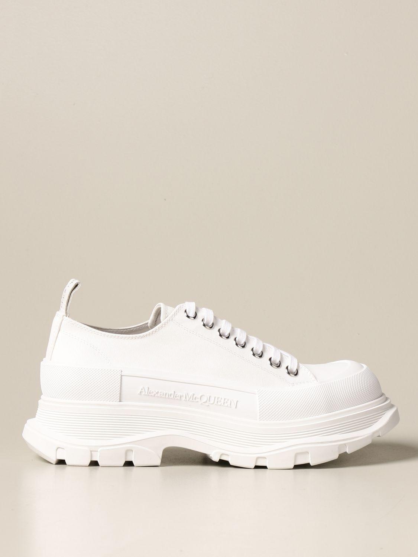 Sneakers Alexander Mcqueen: Alexander McQueen sneakers in cotton canvas white 1