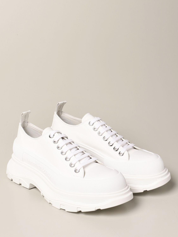 Sneakers Alexander Mcqueen: Alexander McQueen sneakers in cotton canvas white 2