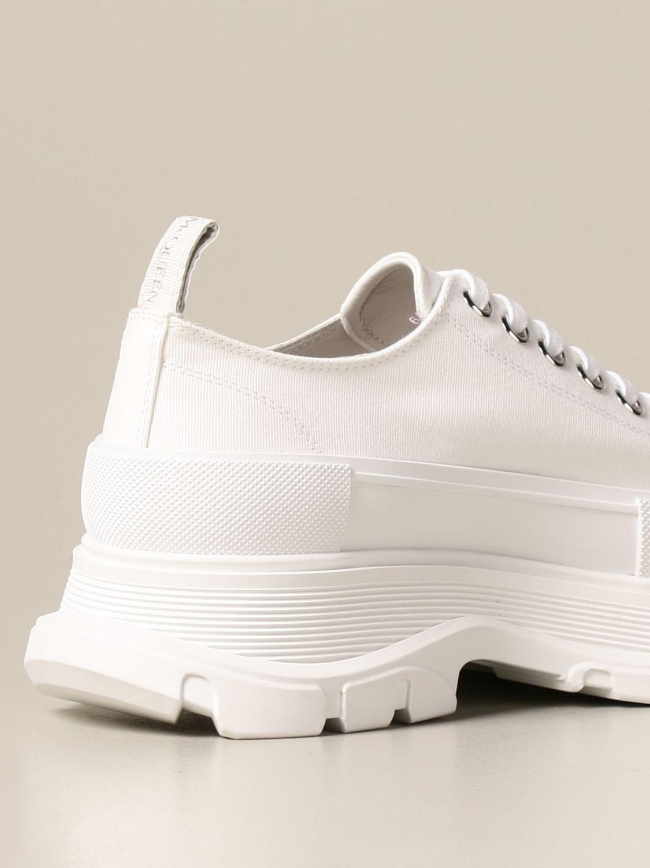 Sneakers Alexander Mcqueen: Alexander McQueen sneakers in cotton canvas white 3
