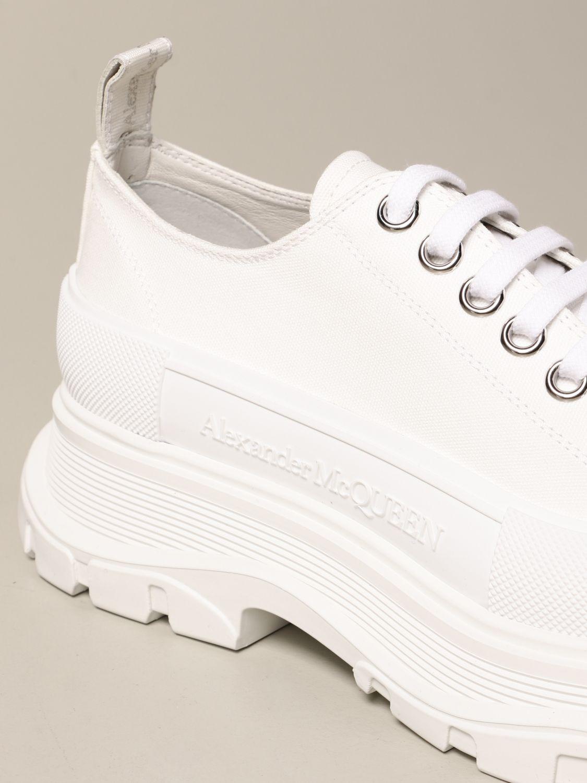 Sneakers Alexander Mcqueen: Alexander McQueen sneakers in cotton canvas white 4