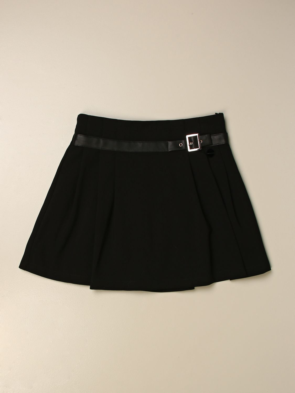 Skirt Manila Grace: Manila Grace wide skirt with metal buckle black 1
