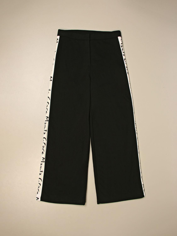Pantalone Manila Grace: Pantalone ampio Manila Grace con bande logate nero 1