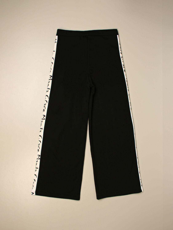 Pantalone Manila Grace: Pantalone ampio Manila Grace con bande logate nero 2