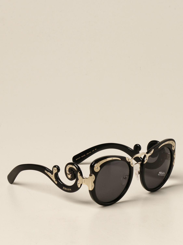 Occhiali Prada: Occhiali da sole Prada in acetato e metallo nero 1