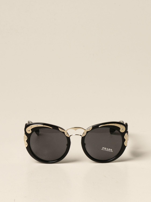 Occhiali Prada: Occhiali da sole Prada in acetato e metallo nero 2