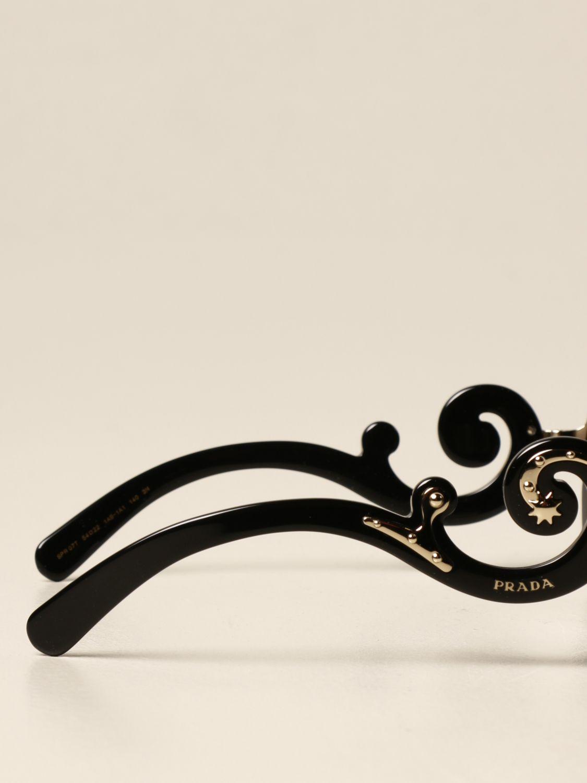 Occhiali Prada: Occhiali da sole Prada in acetato e metallo nero 3