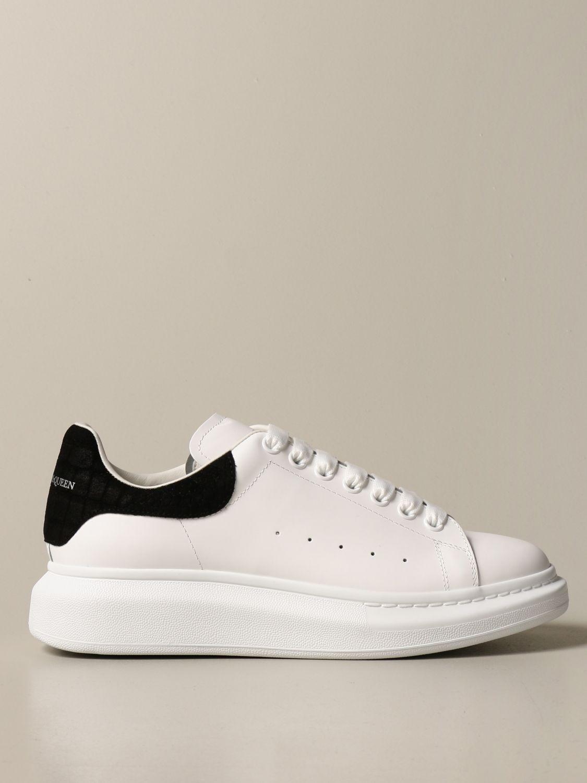 Sneakers Alexander Mcqueen: Sneakers Alexander McQueen in pelle con tallone cocco bianco 1