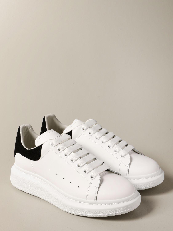 Sneakers Alexander Mcqueen: Sneakers Alexander McQueen in pelle con tallone cocco bianco 2
