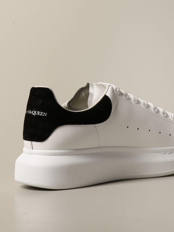 Sneakers Alexander Mcqueen: Sneakers Alexander McQueen in pelle con tallone cocco bianco 3