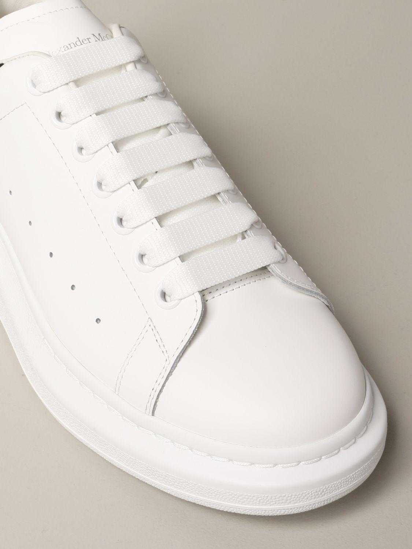 Sneakers Alexander Mcqueen: Sneakers Alexander McQueen in pelle con tallone cocco bianco 4
