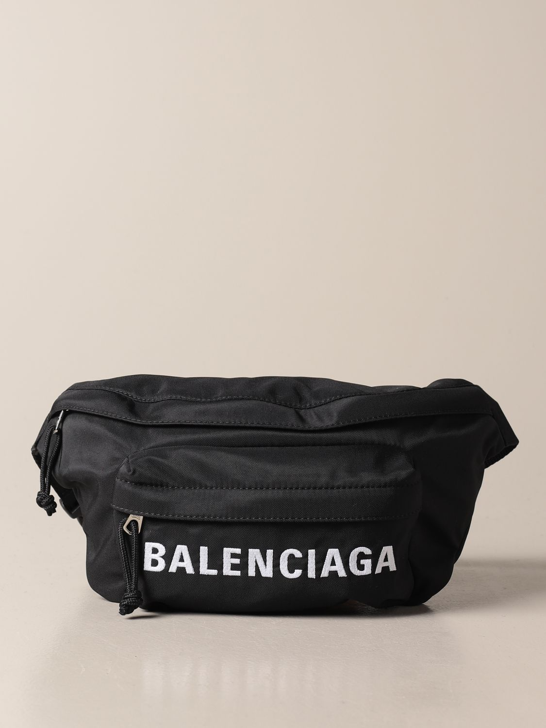 Belt bag Balenciaga: Balenciaga belt bag in recycled nylon with logo black 1